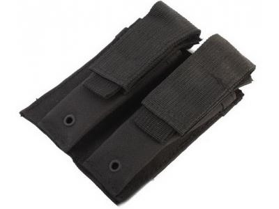 Подсумок двойной под пистолетные магазины Black