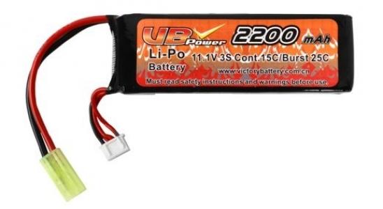 Аккумулятор VB LiPO 11,1 В 2200 мАч Мини-тип (LiPO2200H11.1V20C)