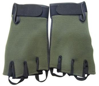 Перчатки с обрез. пальцами, облегченные, Green