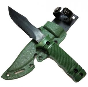 Нож тренировочный 141 Nimravus Tanto (пластик/резина) с ножнами Green