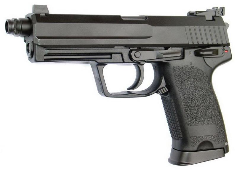 ПИСТОЛЕТ ПНЕВМ. KJW USP TACTICAL P8T GBB, черный, HW металл, HU, GP416T