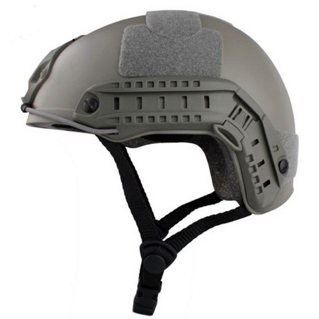 ШЛЕМ ПЛАСТИКОВЫЙ EMERSON FAST Helmet MH TYPE Light version c рельсами FMA AS-HM0120FG