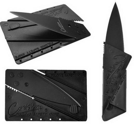 Нож-карточка складной Black