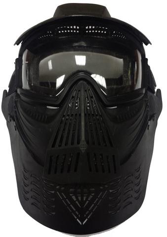 Маска для лица и шеи с прозрачными очками Black