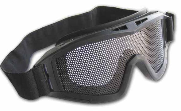 Очки-маска сетчатые Black