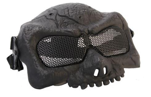 Маска на верхнюю часть лица Зомби Black