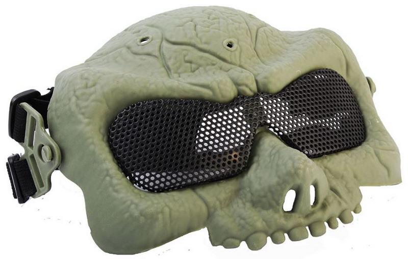 Маска на верхнюю часть лица Зомби Green