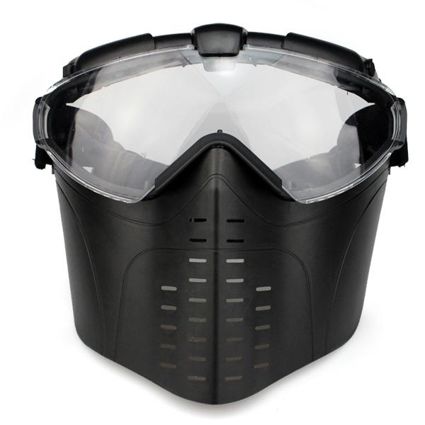 МАСКА на все лицо с вентиляцией Black AS-MS0006B