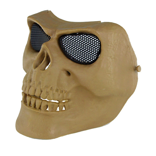 МАСКА на все лицо Skeleton V2 с сетчатыми очками AS-MS0015T