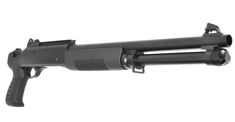 Дробовик K1203 спринговый M4 Shorty без приклада, пластик Black (KOER)