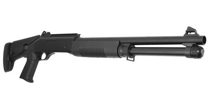 Дробовик K1205 спринговый U.S. Marine M1014 приклад тактический, пластик Black (KOER)