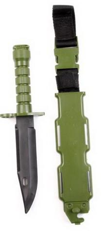 Штык-нож резиновый М9 (с ножнами), Green