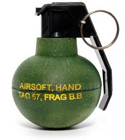 Граната TAG-67 (шары для страйкбола), TAG