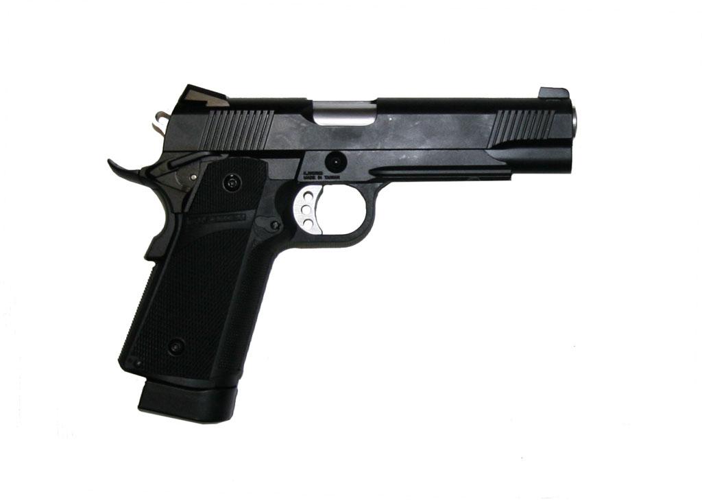 ПИСТОЛЕТ ПНЕВМ. KJW COLT M1911 Hi-Capa GBB, СО2, черный, металл, модель - KP-05.CO2 CP228(BK)