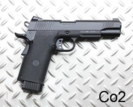 ПИСТОЛЕТ ПНЕВМ. KJW COLT M1911 GBB, СО2, черный, металл, модель - KP-11.CO2