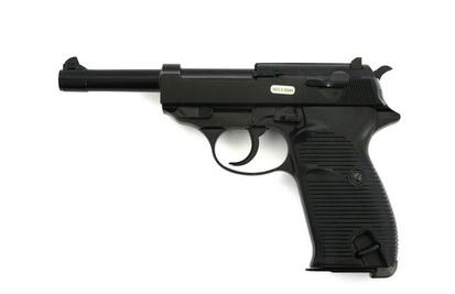 ПИСТОЛЕТ ПНЕВМ. WE WALTHER P38 GBB черный, металл, WE-P010LBOX-BK / GP124BB