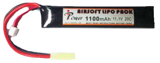 АКБ iPower 11.1V LiPO 1100mAh 20C ALP1100R4A-3S 15x20x110 mini type