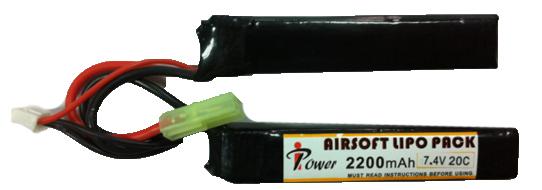 АКБ iPower 11.1V LiPO 2200mAh 20с ALP2200R4A-3S2P 100x20x15 x2 двухлепестковый