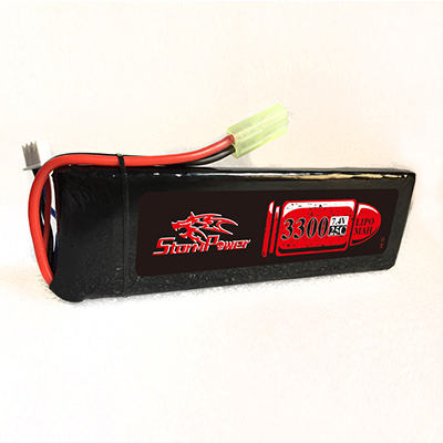 АКБ StormPower 3300mAh 7.4V 20C 136x44x13.5mm М249 приклад