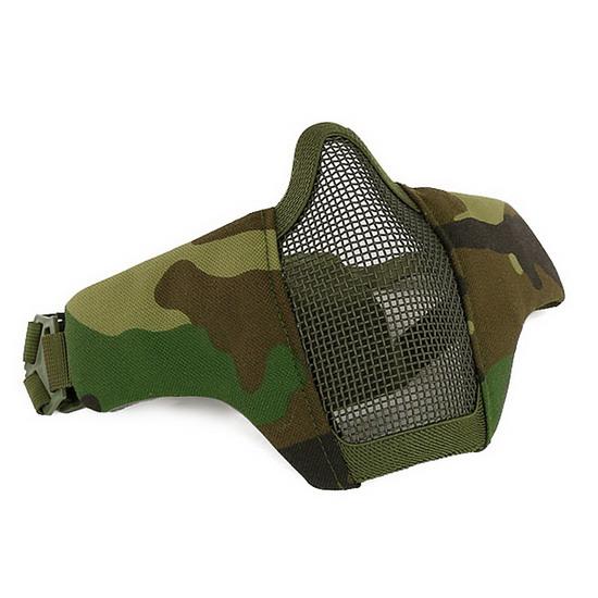 Маска на нижнюю часть лица, ткань+сетка Woodland Camo AS-MS0061W
