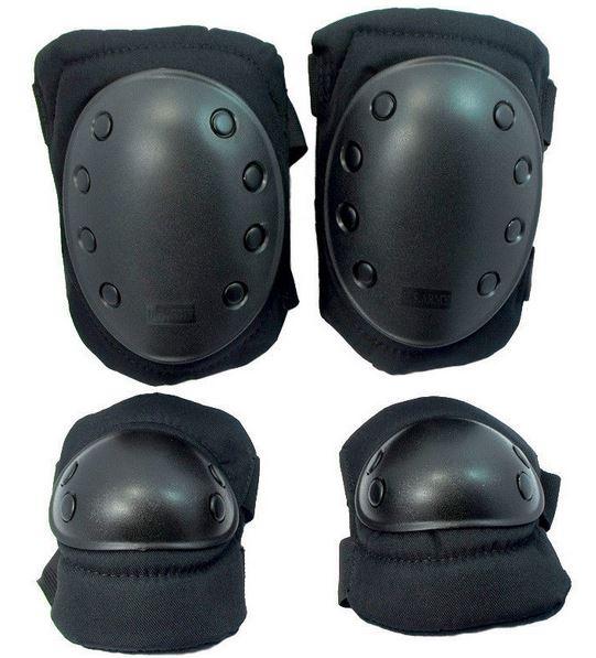 Наколенники, налокотники  SWAT Black