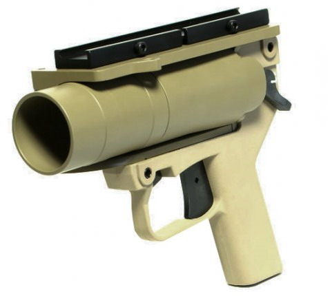 Mad Bull. Гранатомет подствольный AGX Pistol B.B. Paintball Launcher