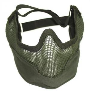 Защита нижней части лица,сетка-металл, зелёный